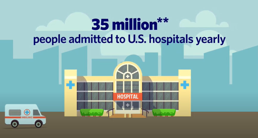 35 million people admitted to U.S. hospitals yearly.